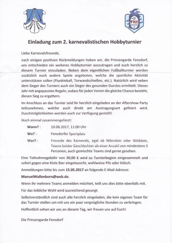 2. karnevalistisches Hobbyturnier @ Fensdorf | Rheinland-Pfalz | Deutschland